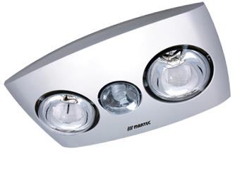 Bathroom Ventilation on Silver Contour 2 3 In 1 Bathroom Heater   Martec Ceiling Fans